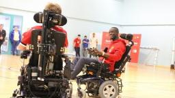 Eric Bailly helps to launch Manchester United launch powerchair team