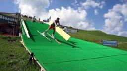 Neveplast training ski slope for Carlo Janka