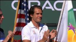 """Wawrinka calls Federer """"Asshole"""" in Post Match Speech - Indian Wells 2017"""